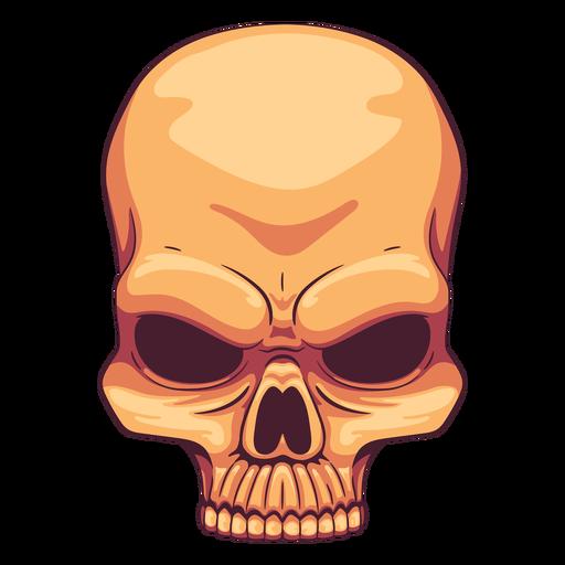 Creepy skull illustration