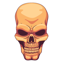 Grimacing skull illustration
