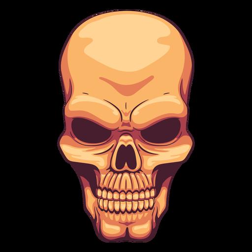 Grimacing skull illustration