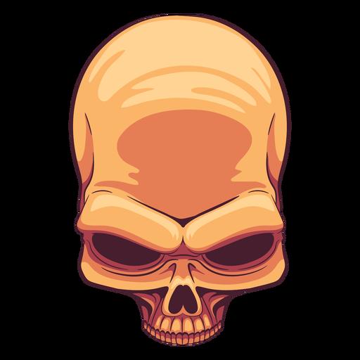 Top view skull illustration