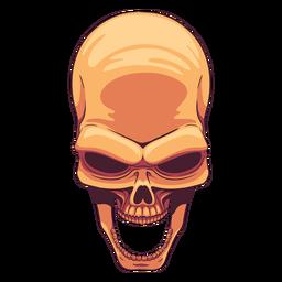 Ilustración de cráneo de mandíbula abierta