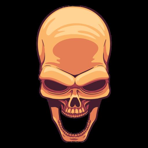 Open jaw skull illustration