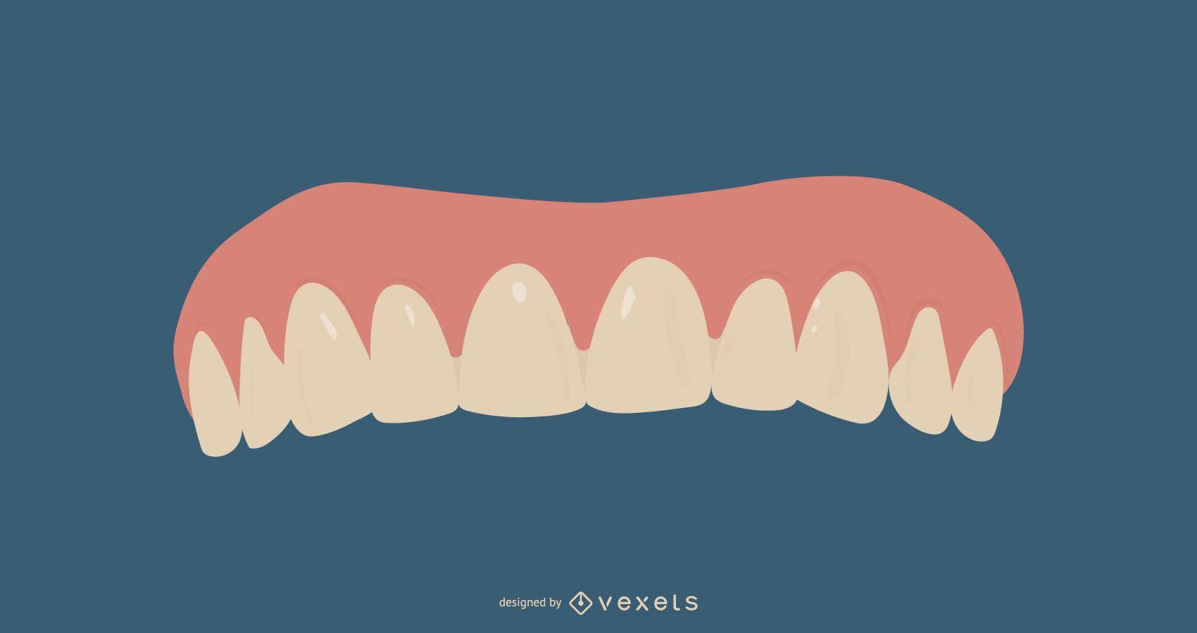 Diseño De Ilustración De Dentaduras