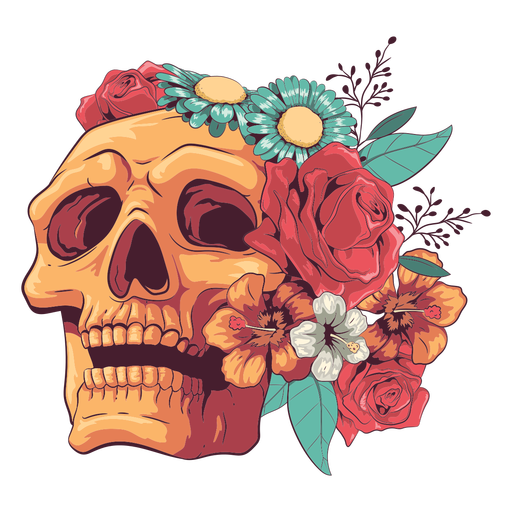 Blumenschädelillustration nachschlagen