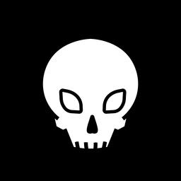 Símbolo de huesos del cráneo