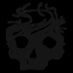 Recorte de esqueleto de cráneo