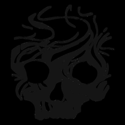 Skull skeleton cut-out