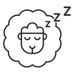 Counting sheep icon stroke