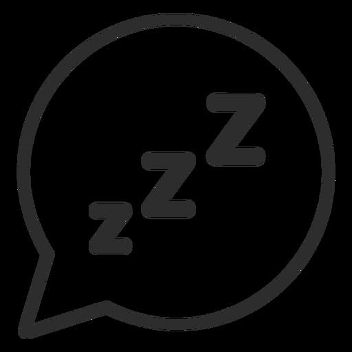 Speech bubble sleeping stroke