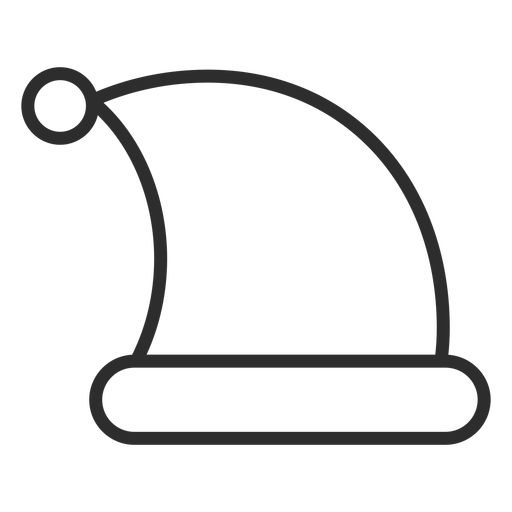 Sleeping night hat stroke Transparent PNG