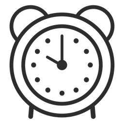 Analog clock alarm stroke