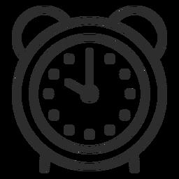 Golpe de alarma de reloj analógico