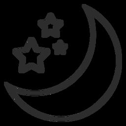 Golpe de luna y estrellas