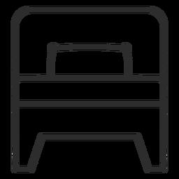Icono de trazo de cama