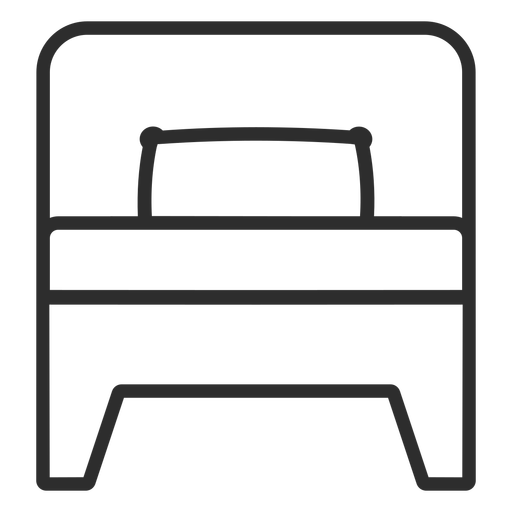 Bed stroke icon Transparent PNG