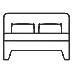 Double bed stroke icon