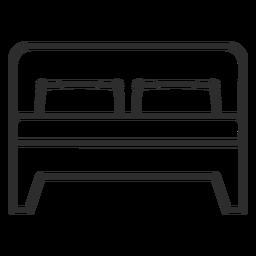 Icono de trazo de cama doble