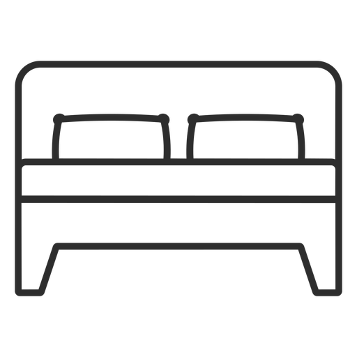 Double bed stroke icon Transparent PNG