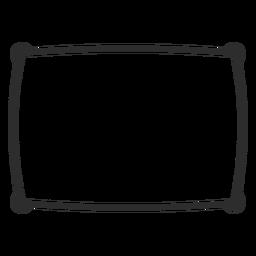Icono de trazo de almohada individual