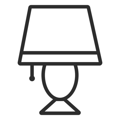 Desk light stroke icon