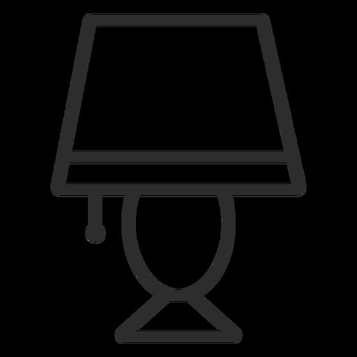 Ícone de traço leve na mesa