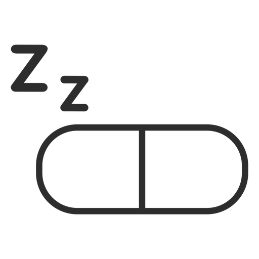 Sleeping pill stroke icon