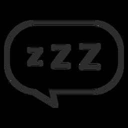Trazo de burbuja de discurso para dormir