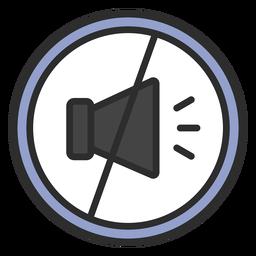 No noise icon flat