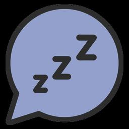 Trazo de color para dormir de burbujas de discurso