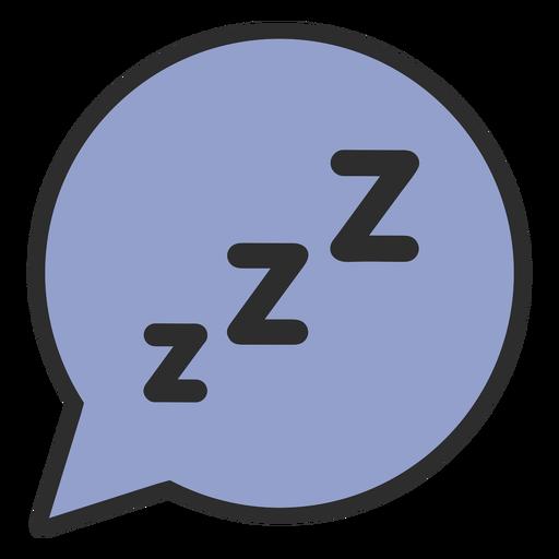 Speech bubble sleeping color stroke