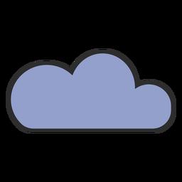 Traço de cor fofa nuvem