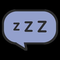 Traço colorido de bolha do discurso a dormir