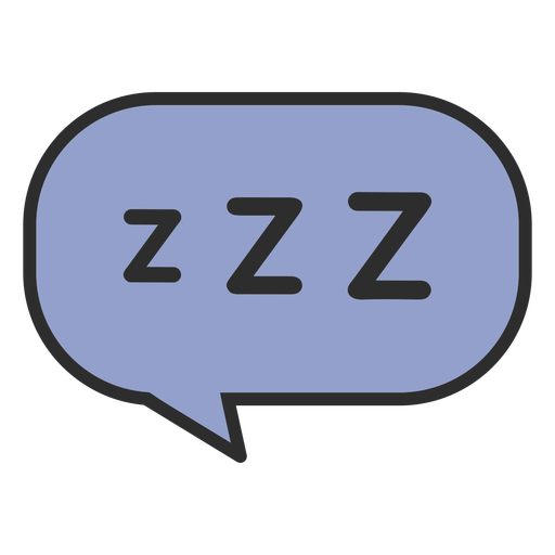 Sleeping speech bubble color stroke Transparent PNG