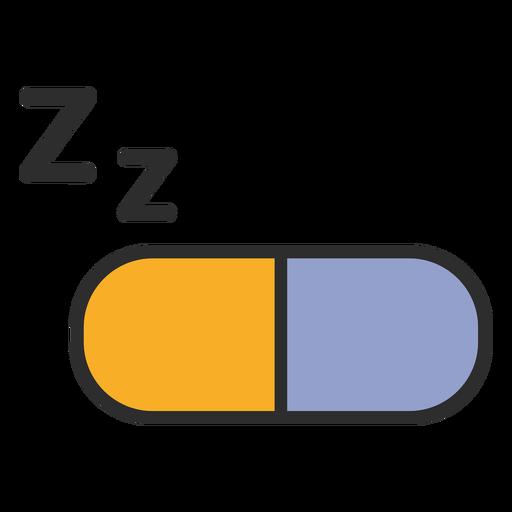 Trazo de color de pastilla para dormir