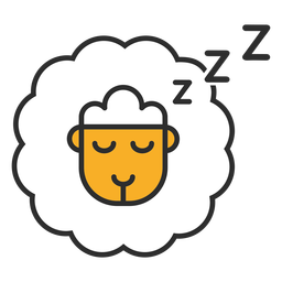Counting sheep icon color stroke