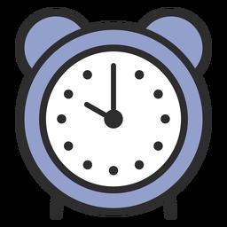 Trazo de color de alarma de reloj analógico