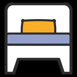 Single bed color stroke
