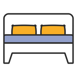 Double bed sleeping color stroke