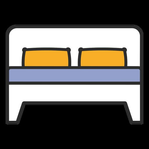 Cama doble para dormir trazo de color
