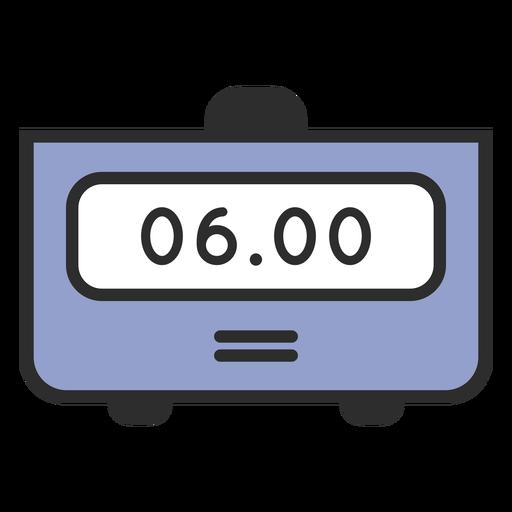 Alarm clock traditional color stroke