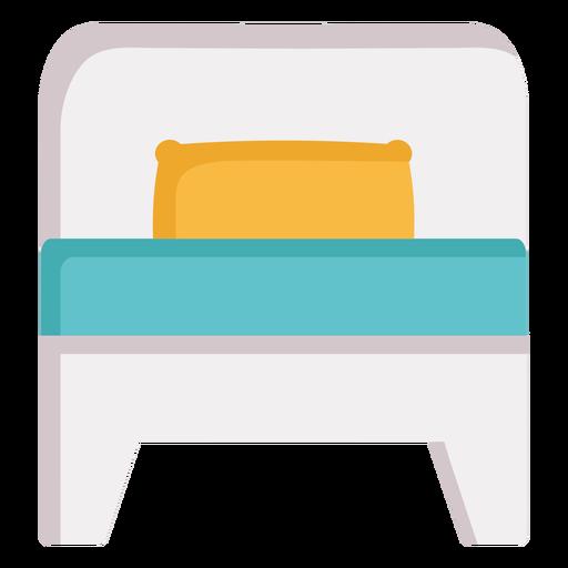 Cama individual durmiendo