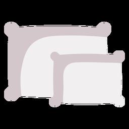 Double pillows flat