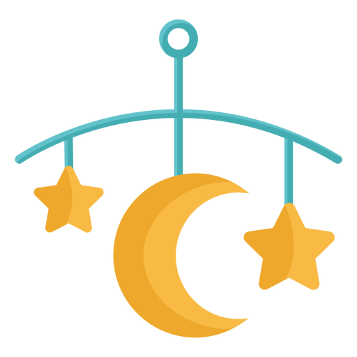 Stars and moon toy flat