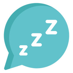 Sleepy speech bubble flat