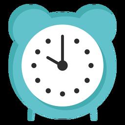 Hora del despertador plano