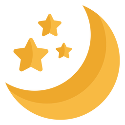 Stars and moon space