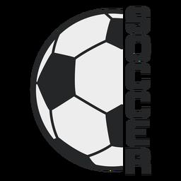Emblema de esporte de bola de futebol