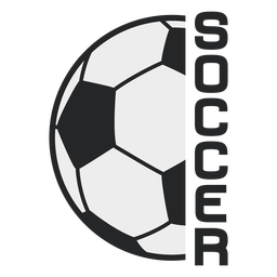Soccer ball sport badge