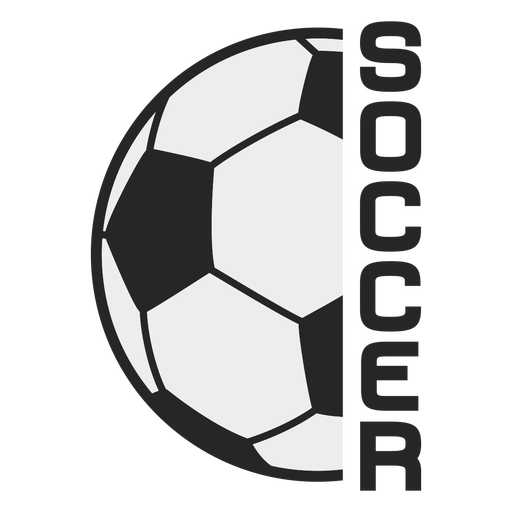 Soccer ball sport badge Transparent PNG