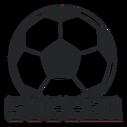 Insignia de pelota gigante de fútbol